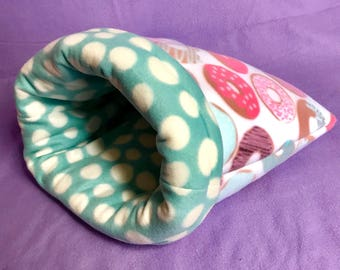 Ready to Ship Donut Snuggle Sack!! For Guinea Pigs, Hedgehogs, Ferrets, Small Animals!