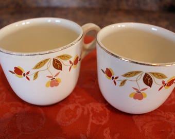 Jewel Tea Autumn Leaf Set of 2 St Denis Cups
