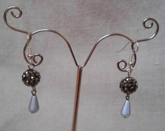 """Earrings """"pretty Pearl gray"""""""