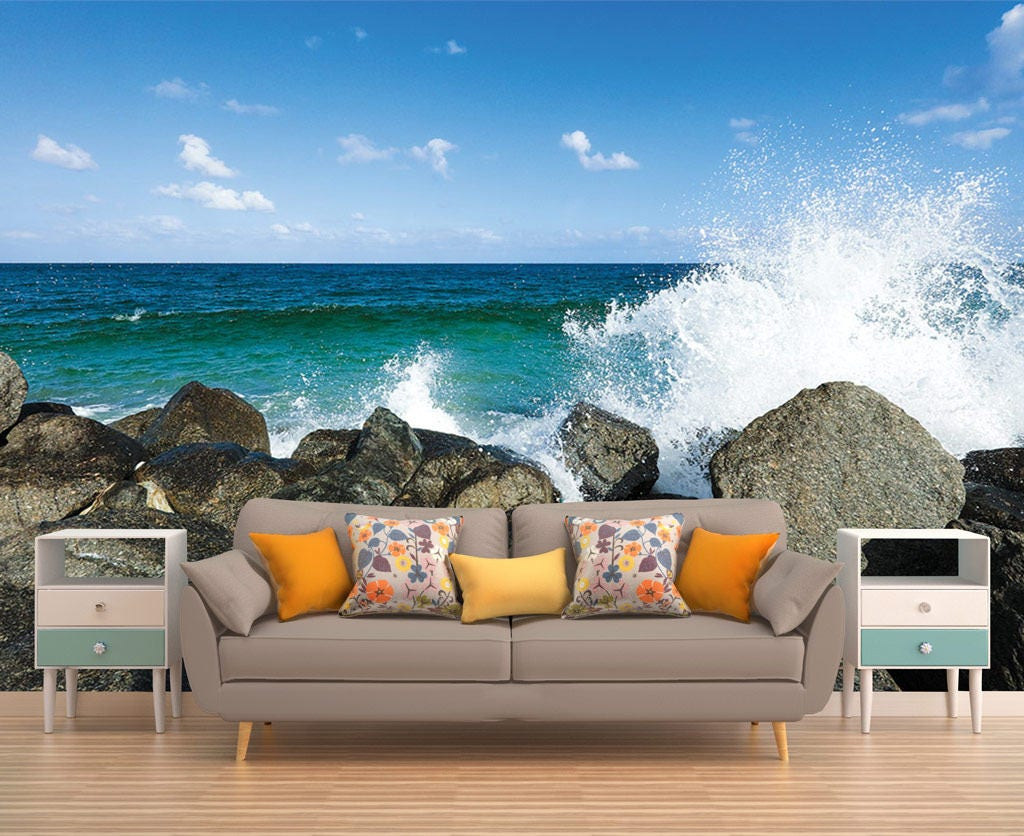 Ocean wall decalswall decal vinyl sticker decals art decor design removable wall decal wall mural stones sea wallpaper wall decal stones ocean amipublicfo Choice Image