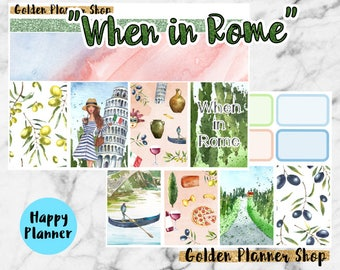 When in Rome Weekly Sticker Full Kit, Planner Stickers for Happy Planner