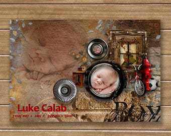 Birth Announcement Photocard, Birth Announcements, Announcement Cards