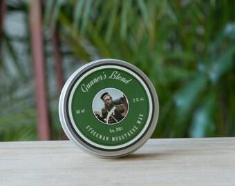 Gunners Blend 60ml Stockman Moustache Wax - Natural - Australian Made