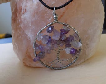 Amethyst Tree of Life Pendant - Tree of Life necklace - Amethyst Jewelry - Amethyst wire wrap - Wire Wrapped Tree Of Life Necklace -