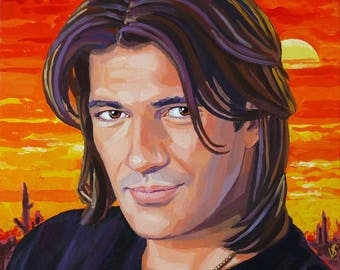 Antonio Banderas/Antonio Banderas. Painting by oil on canvas, 50 see Artist Vasilina Sermyagina.