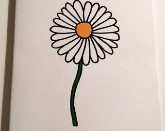 A5 Daisy Notebook (plain inside)