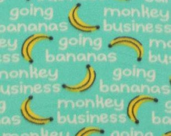Going Bananas Fleece Tied Blanket