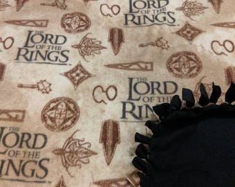 The Lord Of The Rings Fleece Tied Blanket