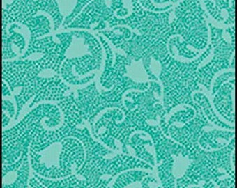 turquoise Patchwork SERENITY by EXCLUSIVELY QUILTERS fabric