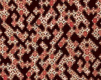 Japanese Sakura Butterfly Lace Kanvas Burgundy patchwork fabric
