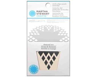 Martha Stewart Crafts Punch Circle Edge Punch Cartridge- Diamond Lace