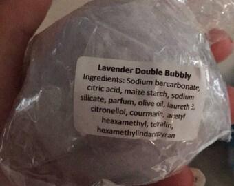 Lavendar double bubbly bath bomb