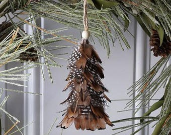 Decorative Mini Feather Tree Ornaments