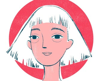 Custom Color Portrait, Branding Colors, Business Cards, Illustrated Portrait