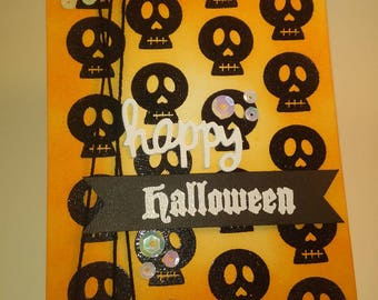 Halloween Card, Happy Halloween Card, Handmade Card, Handmade Happy Halloween Card, Handmade Halloween Card
