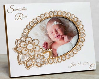 Personalized  Baby Picture Frame,Baby Girl Picture Frame, Baby Girl Birth Frame,New Baby Girl Frame, Baby Girl Frame, Baby Frame For Girls