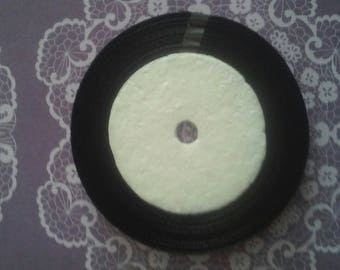 Littles 6 mm black satin ribbon