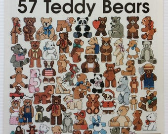 Cross stitch chart - One Nighters 57 Teddy Bears - Jeanette Crews Designs 472