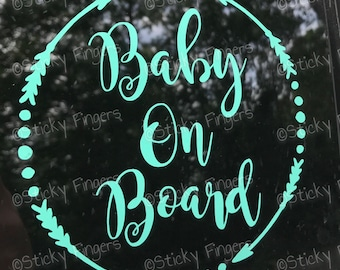 Baby On Board Decal - FREE SHIPPING