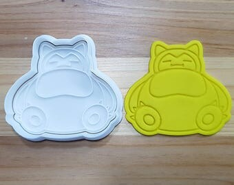 Pokemon Snorlax Cookie Cutter and Stamp