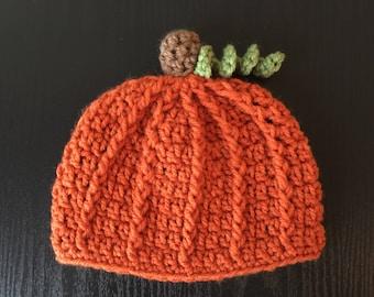 Pumpkin hat, Baby pumpkin, Newborn Halloween hat, Baby Halloween hat, Baby pumpkin hat, Fall baby hat, Halloween hat, Crochet pumpkin hat