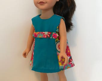 "WAS 12.00!  Retro dress for 18"" doll"