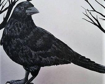 Crow 1 print