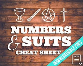 Tarot Numbers & Suits Cheat Sheet