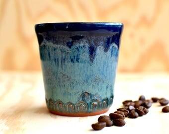 Small coffee mug in blue