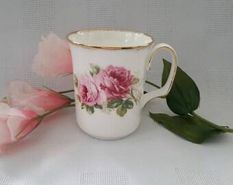 Royal Albert American Beauty Coffee Mug, Made in England
