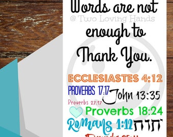 Words are not enough to thank you, jw cards, jw gifts, thank you card, Jehovah's Witness, jw , friendship card