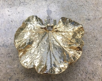 10% Vintage Mimidia Gold Plated Leaf 1981