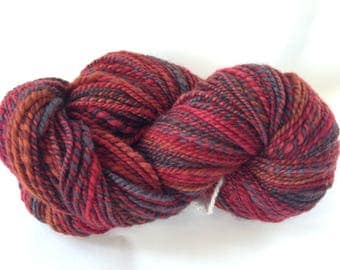 Handspun Yarn - Worsted 2-ply - 225 yards