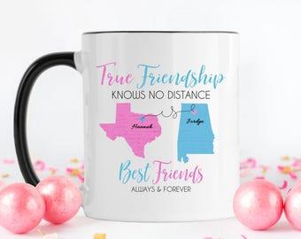 Long Distance, Friendship Mug, Best Friend Moving, Long Distance Mug, Best Friend Mug, Coffee Mug, Best Friend, Long Distance Gift,