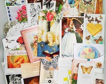 Angels, Flowers and Romantic Ephemera, romantic journal, scrapbook, collage, decoupage