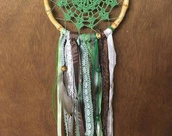 Handmade crocheted dream catcher