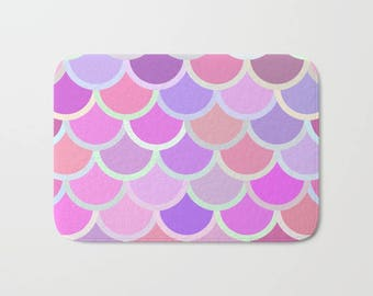 Purple Mermaid Bath Mat, Purple Mermaid Shower Mat, Purple Bath Mat, Purple Bathroom Mat, Mermaid Bathroom, Mermaid Decor, Purple Bath Decor