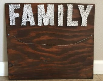 Family picture string art