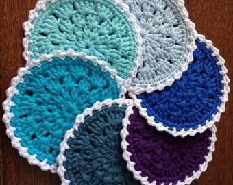 Lace crochet coasters
