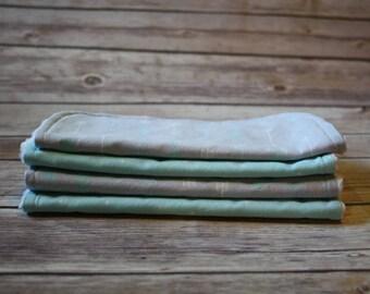 Baby Wash Cloths | Baby Wipes | SET of 4 | Arrows | Aqua Dot | Gender Neutral