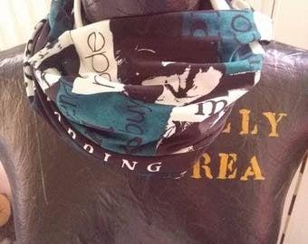 Snood scarf effect shop hand made fashion