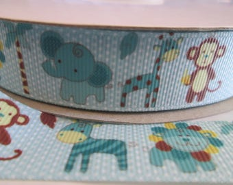 22 mm baby theme grosgrain Ribbon sold by the meter