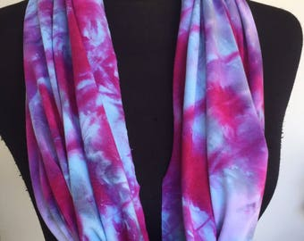 Tie dyed infinity scarf