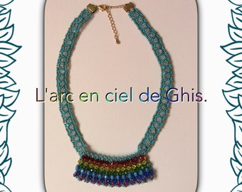 Necklace in Rainbow colors.
