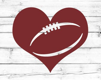 Football SVG - PNG, Football Heart Svg, Football Laces Svg, Game Day Svg, Svg Files, Cut Files for Cricut, Svg for Cricut
