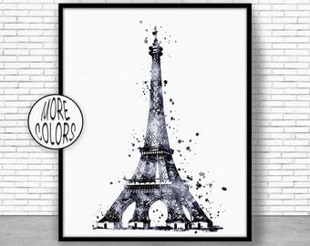 Eiffel Tower Decor Eiffel Tower Print Eiffel tower art  paris art paris print Watercolor Decor paris wall art ArtPrintZoneGift for Women