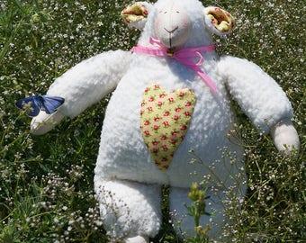 Tilda soft lamb, Soft Toy Lamb flowers