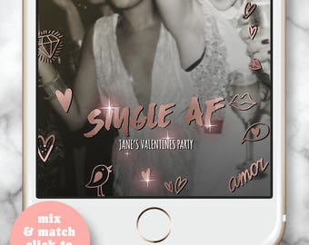 St. Valentine Geofilter * Valentine's Day Snapchat Geofilter, Date Night, Night Party, Cheers Darlings, Personalized filter, Hearts, V-day 3
