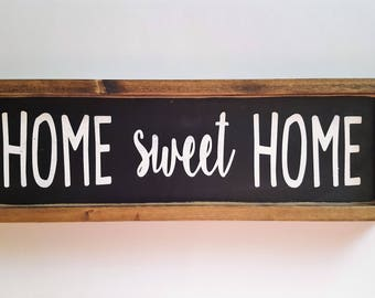 Home Sweet Home| Farmhouse Sign