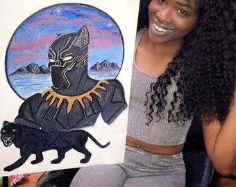 Black Panther 16x20 Flat canvas